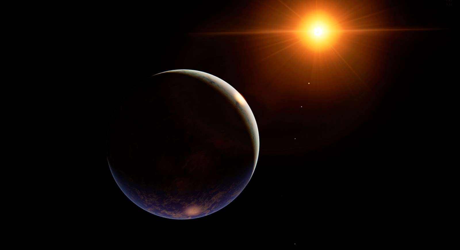 cool planet earth and sun -#main