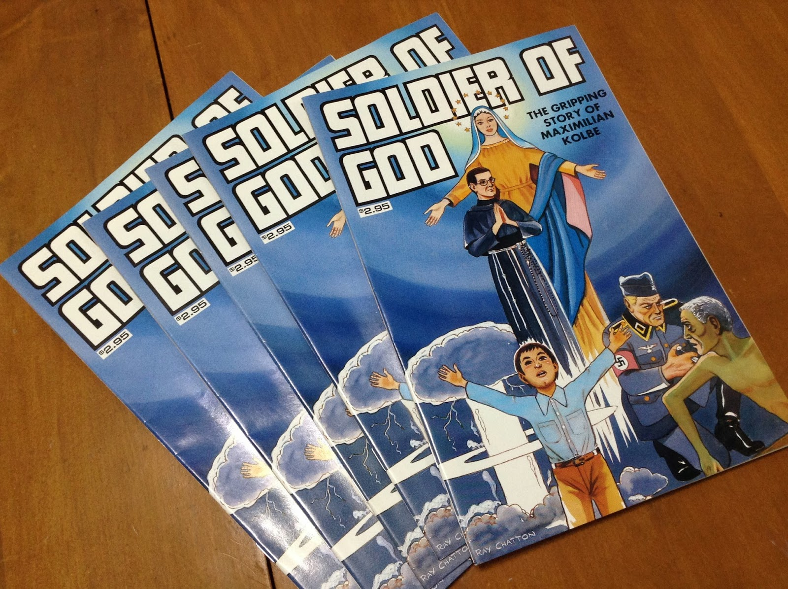 http://store.stlukeproductions.com/Soldier-of-God-Comic-Book.html