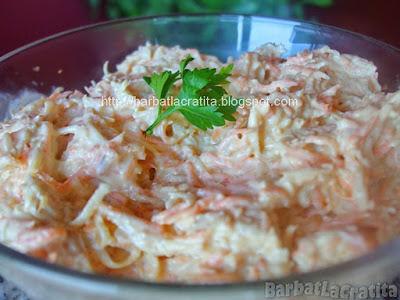 Salata de telina si morcov reteta