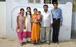 Jyoti with her family members