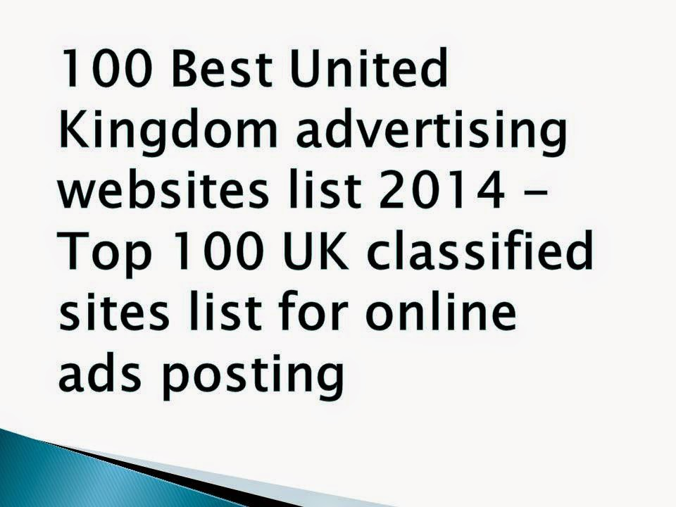 Top 100 UK Classified Sites List 2017 Best 25 Free United