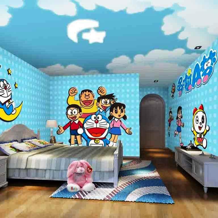10 gambar wallpaper dinding kamar tidur anak motif