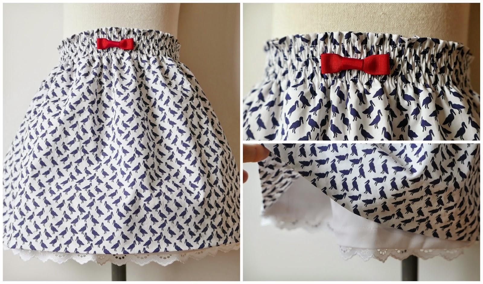 Cómo hacer (tutorial) y esquema patrón gratis para una falda de niña ...
