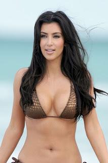 Kim Kardashian showing her bikini body