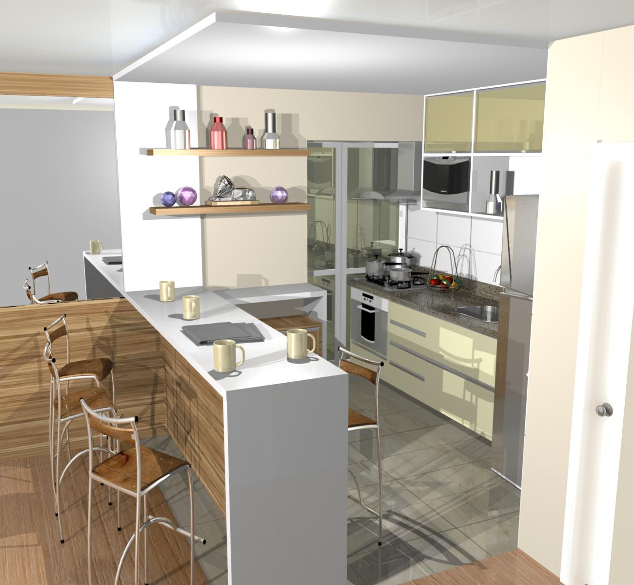 Cozinhas Americanas Pequenas Modernas Lustre Pendente Na Cozinha
