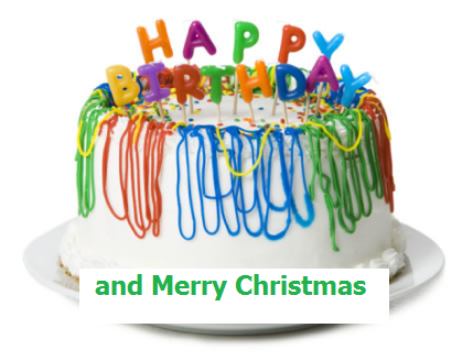 happy birthday and merry christmas cake - Merry Christmas And Happy Birthday