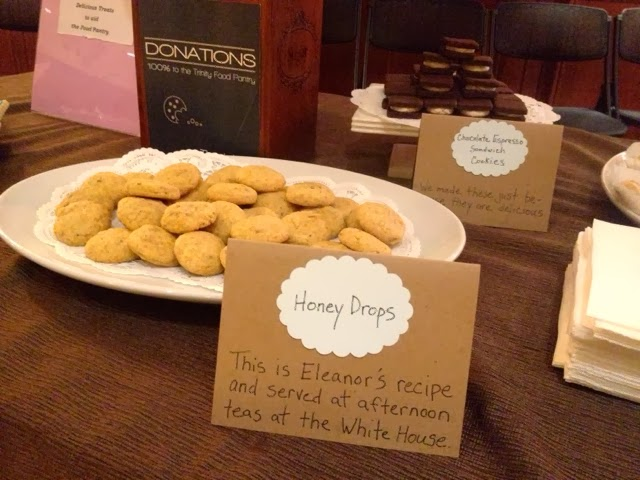 Eleanor Roosevelt except for the Chocolate Espresso Sandwich Cookies ...