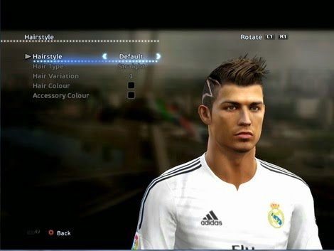 Cr7 News C Ronaldo 7 Hairstyle On Pes 2015
