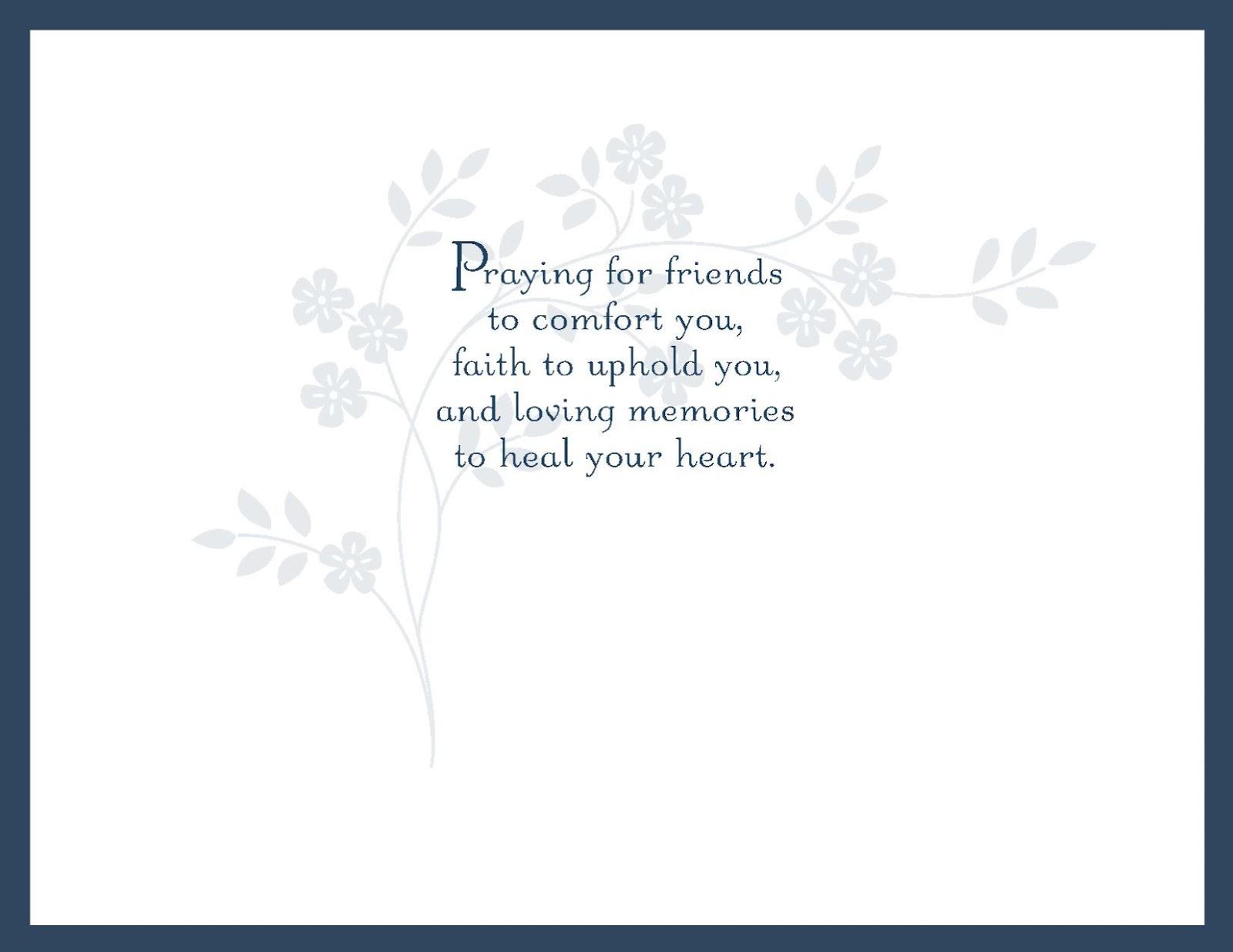 Condolence Card Template Www Imgkid Com The Image Kid