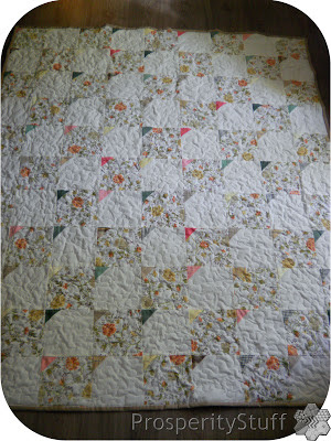 Vintage Sheet Throw Quilt