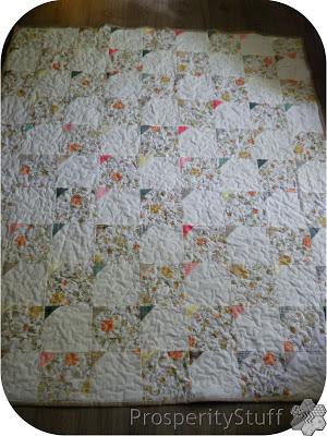 Vintage Sheet Throw Quilt