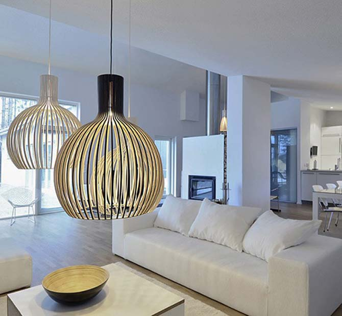 Contemporary scandinavian pendant lights by secto design - Modern pendant lighting for dining room ...