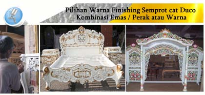 contoh furniture duco kombinasi emas allia furniture
