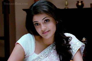Cute Kajal in White saree Mr Perfect image1.jpg