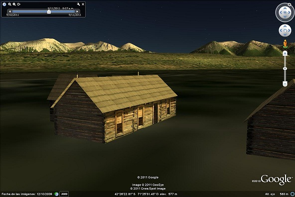 Cabaña de Butch Cassidy en Google Earth Realizada por Juan Manuel Gómez. Está publicada