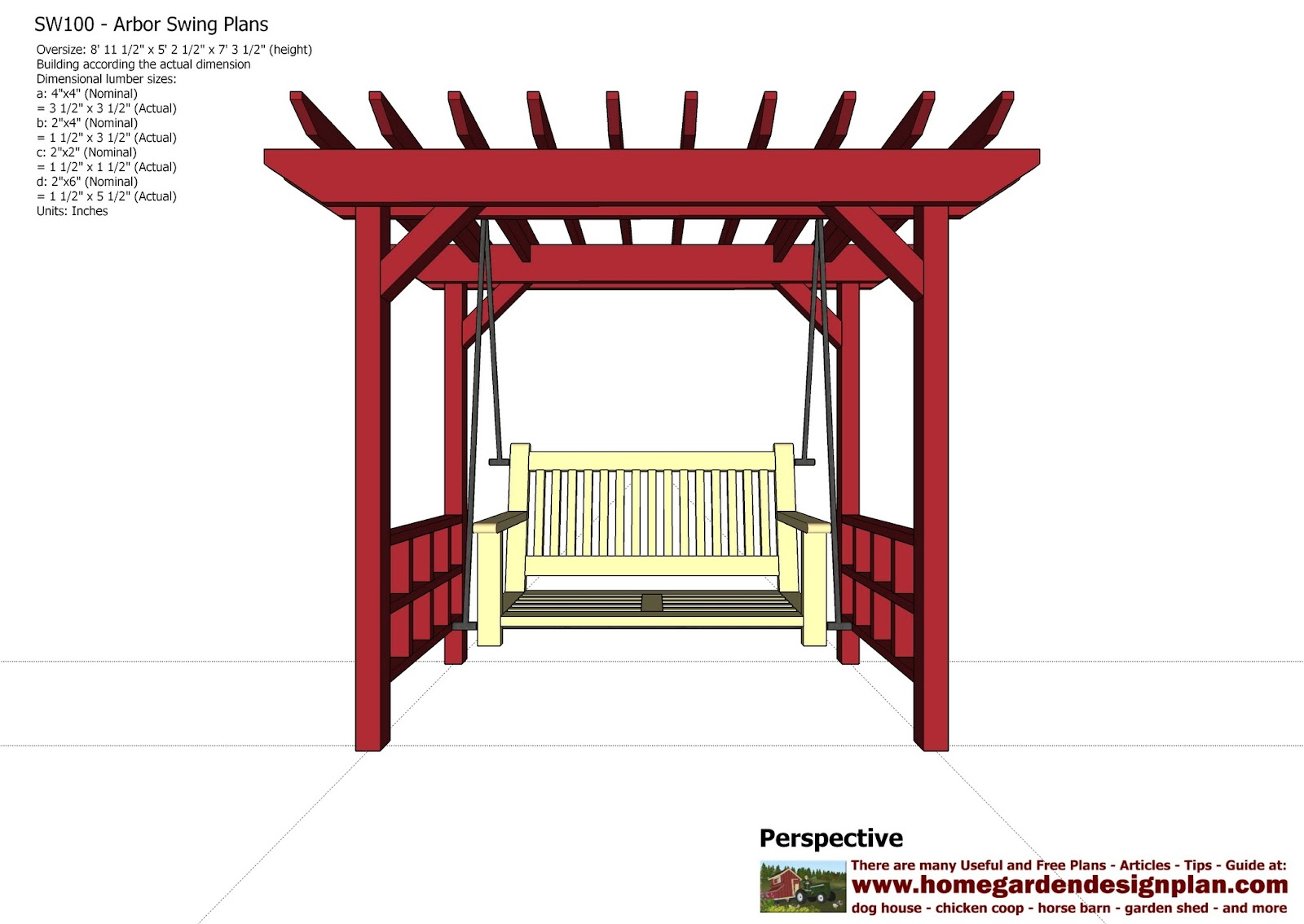 Outdoor bench woodworking plans pergola swing plans free for Design your own playground online