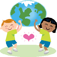 Kids holding the world