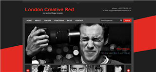 London Creative Red Blogger Template