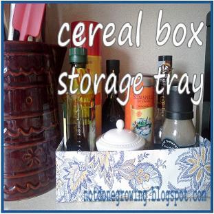 cereal box storage tray