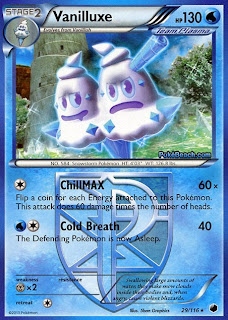 Vanilluxe Plasma Freeze Pokemon Card