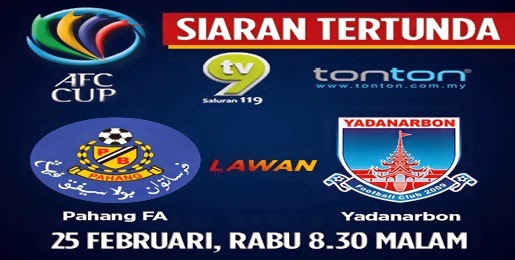 Video Gol Pahang Vs Yanadarbon 25 Feb 2015