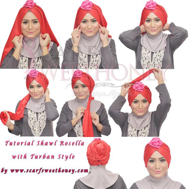 cara memakai hijab modis 6