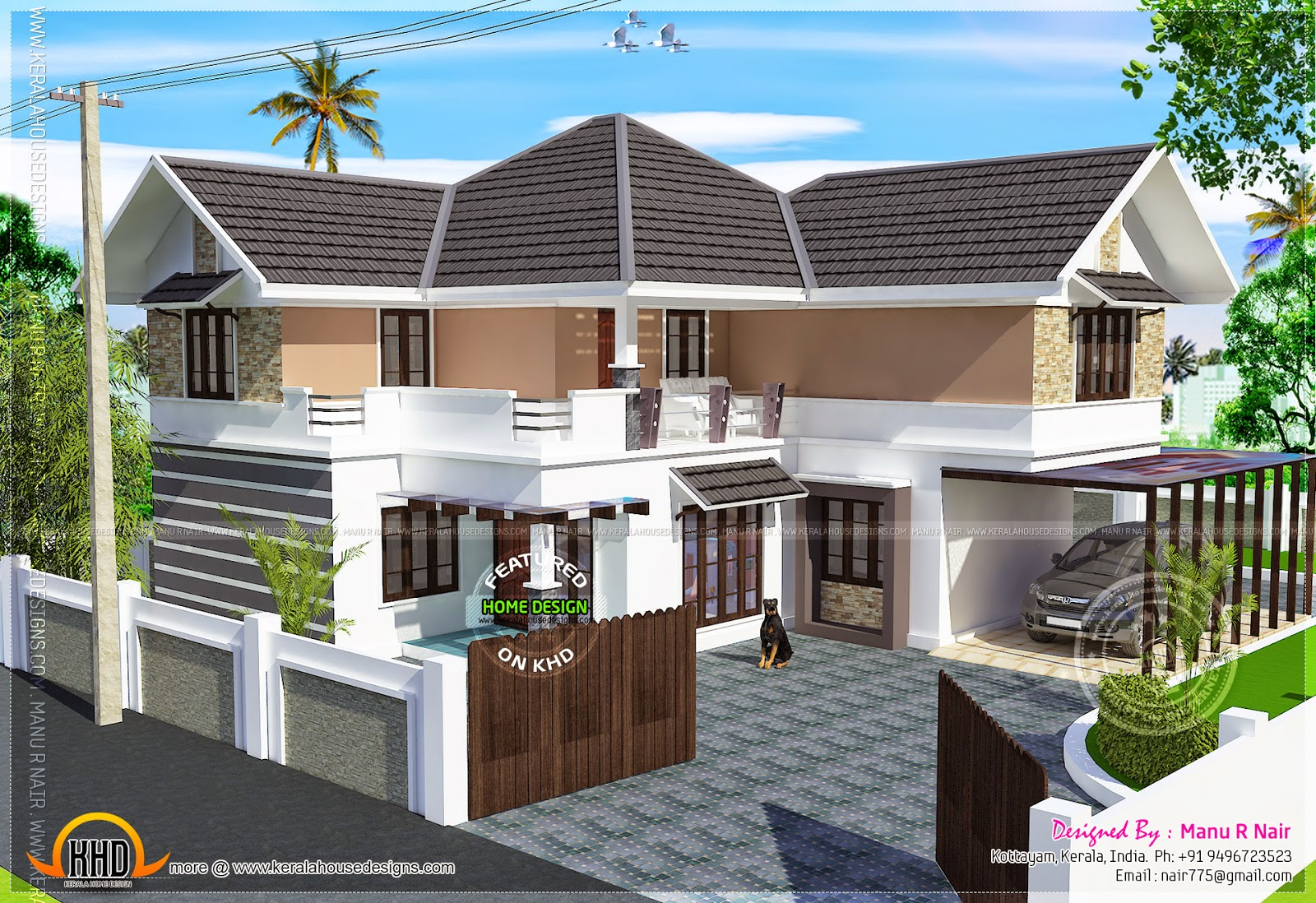 Renovation house existing ground floor and proposed first for Kerala home design ground floor