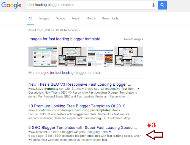 keyword: fast loading blogger template