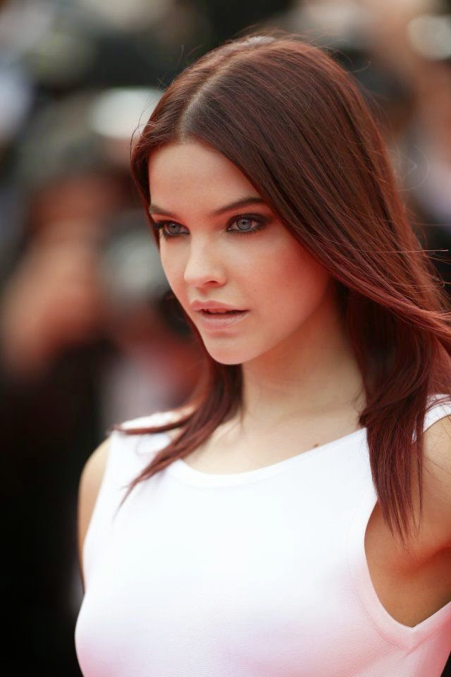 Barbara Palvin look beauty in a long white gown during the 2014 Cannes Film Festival on Wednesday, May 21, 2014.