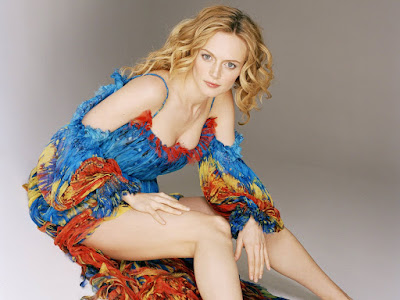American Actress Heather Graham Colorful Wallpaper