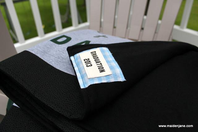 Graduation T Shirt Memory Quilt Blankets