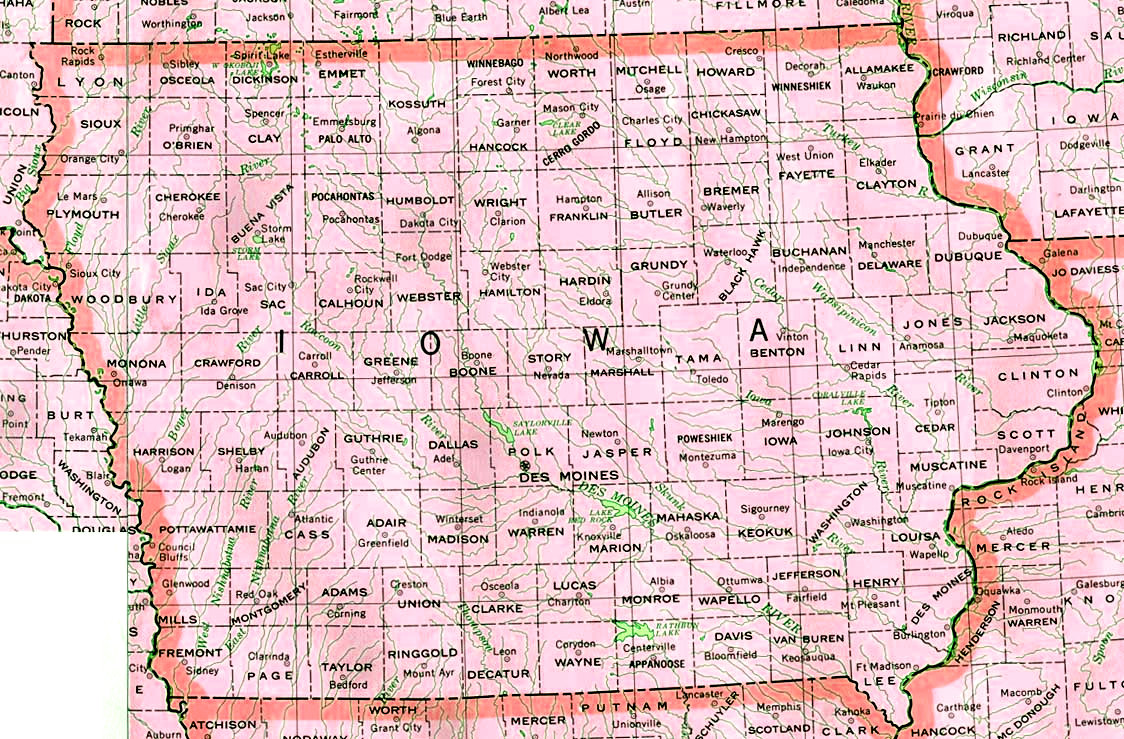 Iowa State Map Images