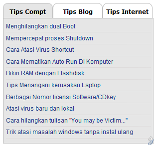 Cara Membuat Menu Tab View Di Blog