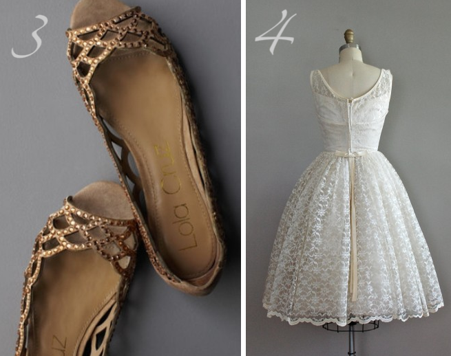 Shimmering Lattice Skimmers from BHLDN 4 A 1950 39s Vintage Frock from Dear