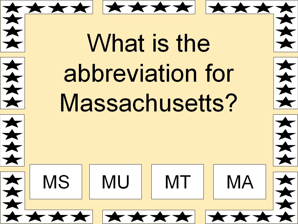 What Is The Abbreviation For Massachusetts