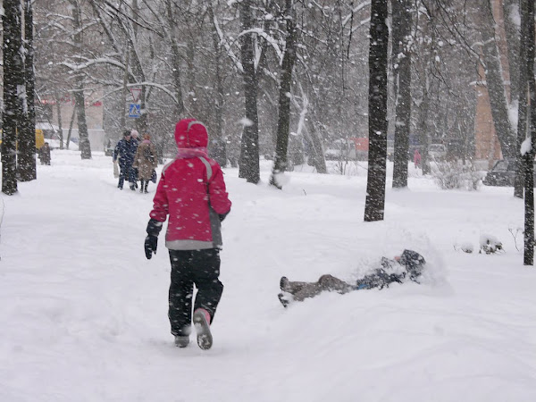 Питер, снегопады