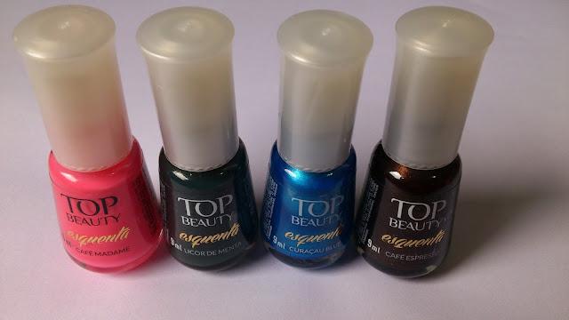 Swatches: Esmaltes Top Beauty Coleção Esquenta