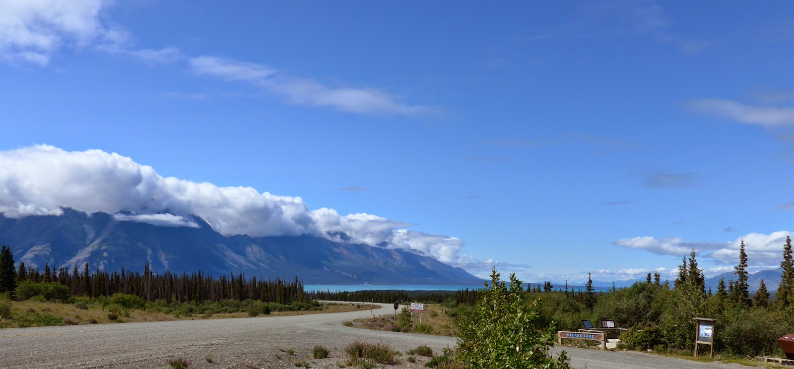 Kluane Lake in the back ground.