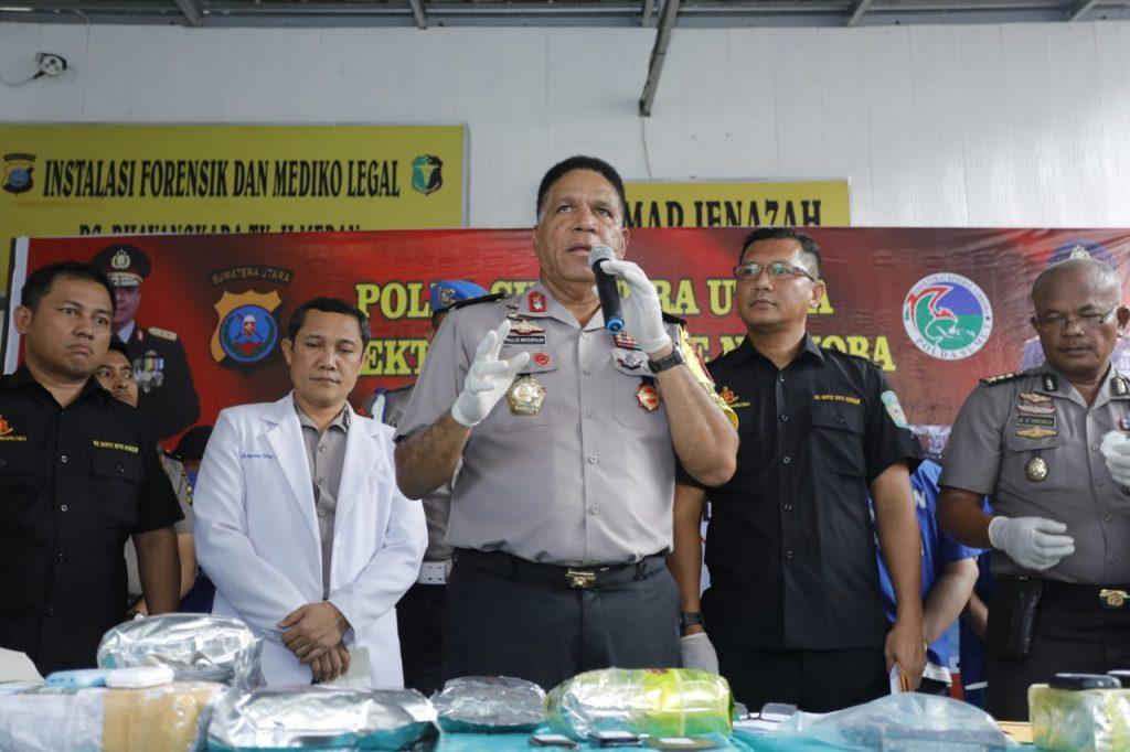Dua Bandar Ditembak Mati, Polda Sumut Ungkap Jaringan Narkoba Internasional 17 Kilo Sabu