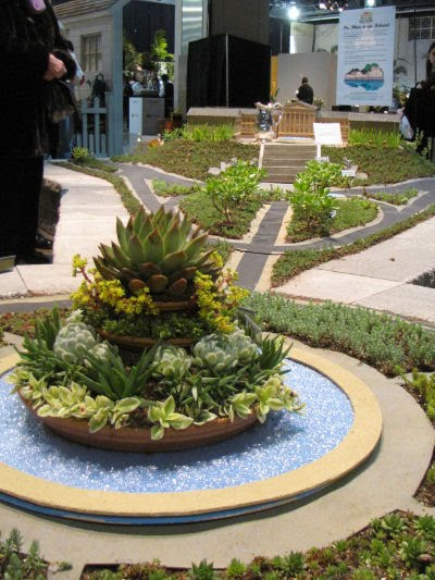 Philadelphia model with succulent plants
