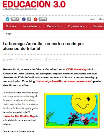 http://www.educaciontrespuntocero.com/experiencias/la-hormiga-amarilla-corto-creado-alumnos-infantil/24053.html