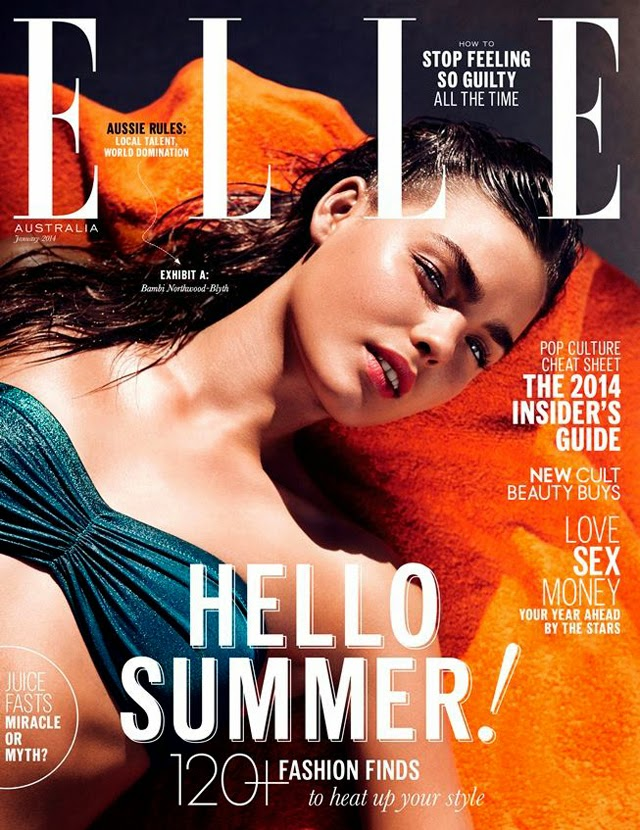 Bambi Northwood-Blyth cover Elle Australia January 2014