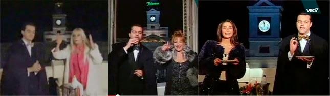 Campanadas de Fin de Año en TE en 1997, 1998 y 1999