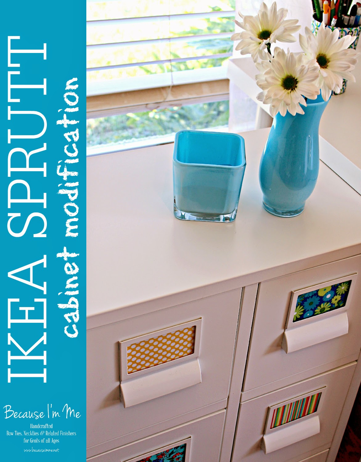 Ikea SPRUTT cabinet hack, new tags, legs