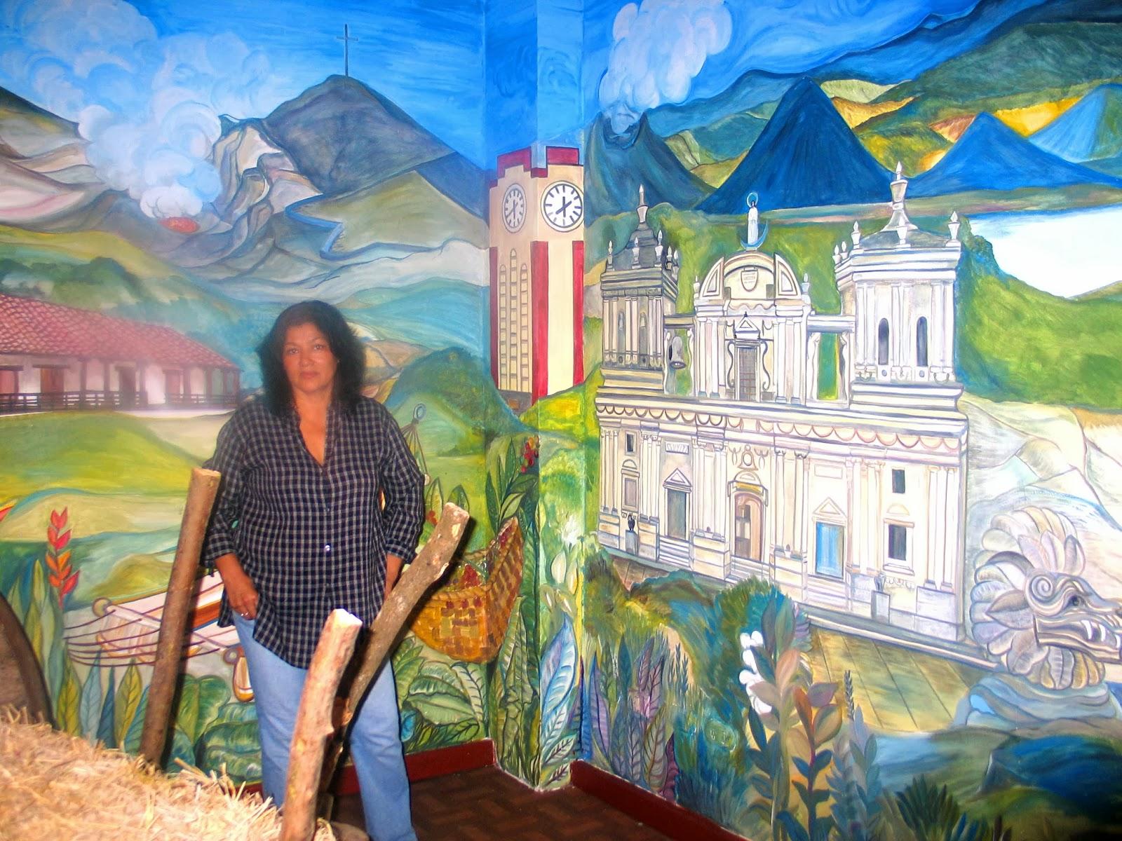 Alas a mis pinturas cony gomez noviembre 2013 for Mural nicaraguense