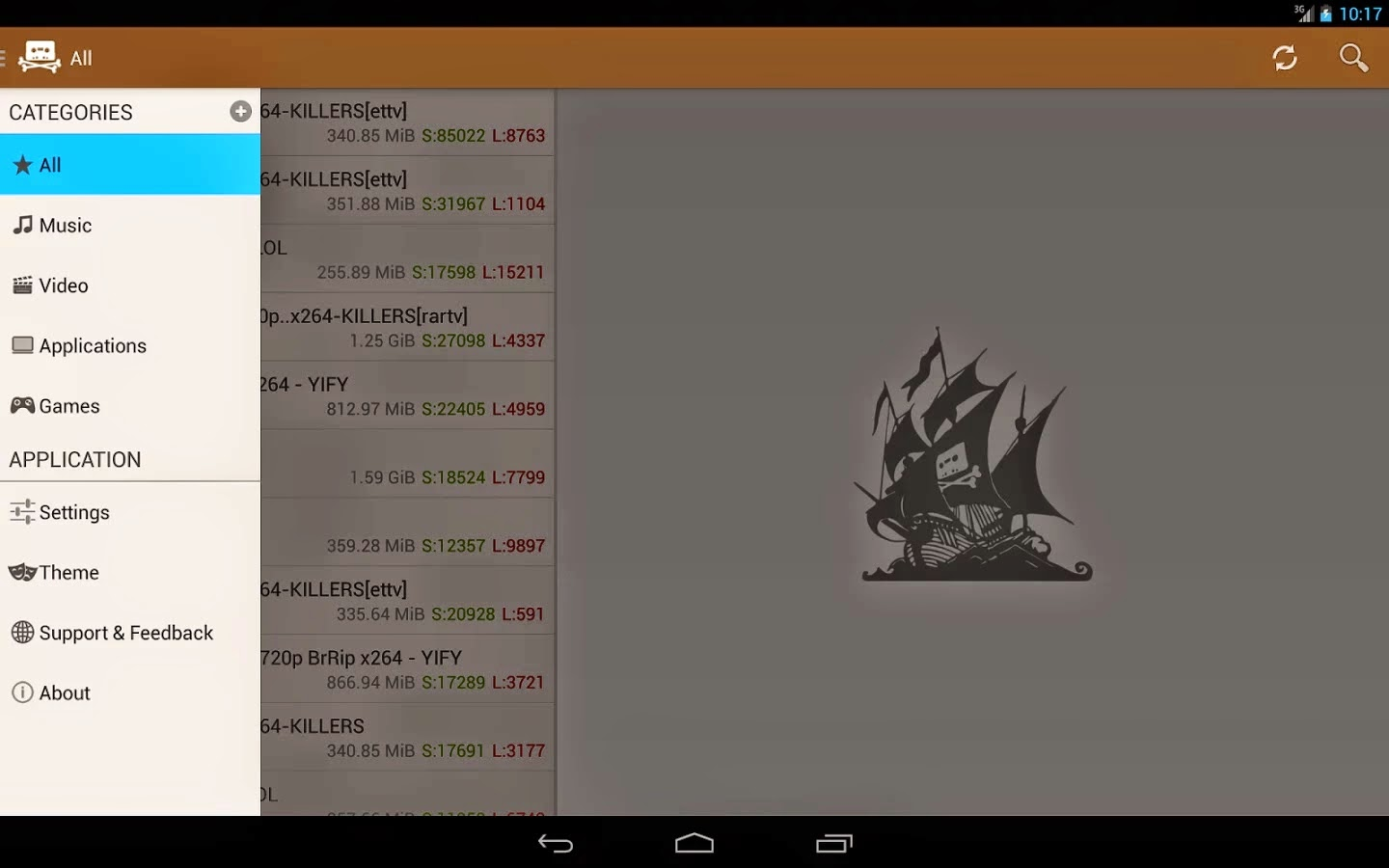 The Pirate Bay Browser Premium v6.8