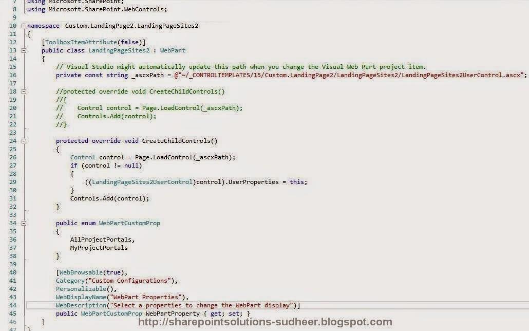 Visual WebPart - WebPart Class View