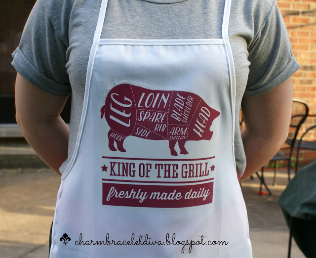 King of the Grill DIY Apron for Father's Day