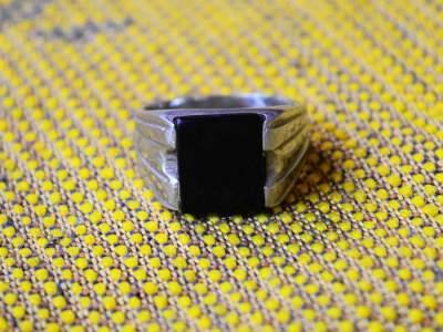 Cincin Batu Onyx Hitam