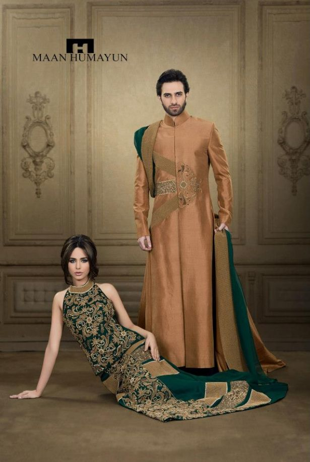 mh latest semi formal dresses for ladies gents  - MH New Semi Formal Wear Dresses Collection 2013 for Men and Women